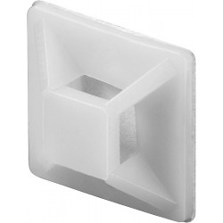 BASE AUTOADHESIVA BRIDA 19x19mm BLANCA