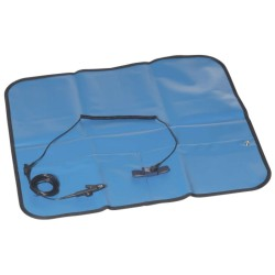 KIT TAPETE ANTIESTATICO PORTATIL AZUL
