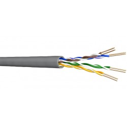 CABLE UTP CAT6 FLEXIBLE GRIS PVC
